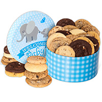 Welcome Baby Boy Cookie Gift Box 8964CC