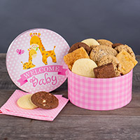 Welcome Baby Girl Brownie Gift Box 8983CC