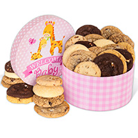 Welcome Baby Girl Cookie Gift Box 8963CC