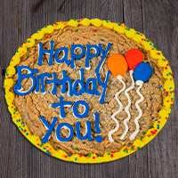 Birthday Balloons Cookie Cake 8666CC