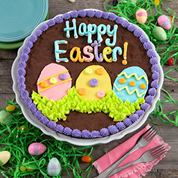Happy Easter Brownie Cake 8897CC