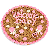 Welcome Baby Girl Cookie Cake 8668CC