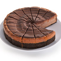 Chocolate Cabernet Truffle Cheesecake