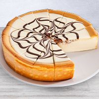 White Chocolate Swirl Cheesecake