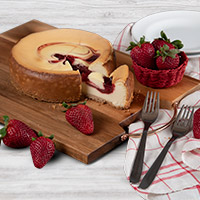 Strawberry Swirl Cheesecake - 6 Inch (8107CC)