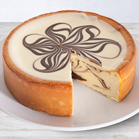 White Chocolate Swirl Cheesecake - 6 Inch