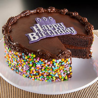 Chocolate Happy Birthday Cake - 8 Inch (8502CC)
