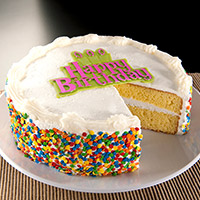 Vanilla Happy Birthday Cake - 8 Inch (8503CC)