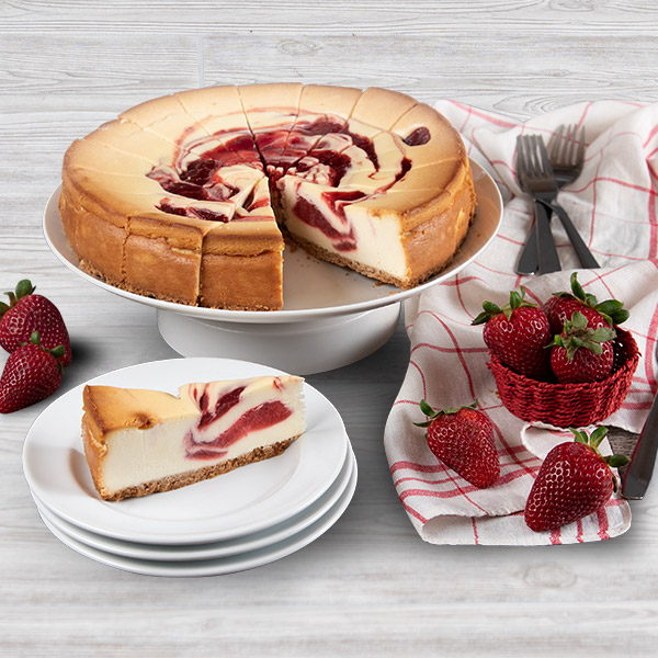 Strawberry Swirl Cheesecake 9 Inch By Cheesecake Com
