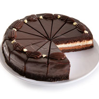 White & Dark Chocolate Mousse Cake - 9 Inch