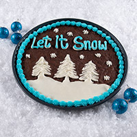 Let It Snow Brownie Cake