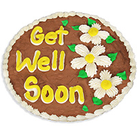 Get Well Soon Brownie Cake